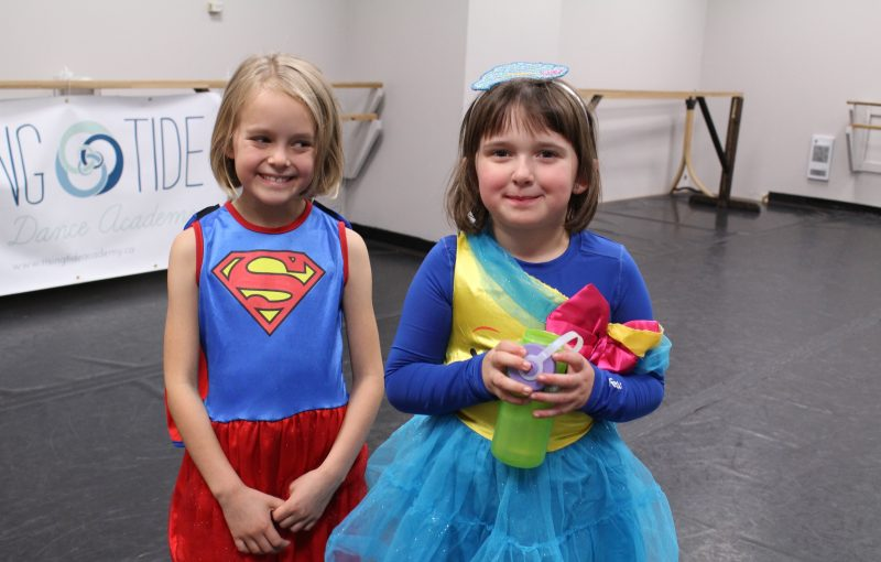 Two super dancers on Halloween