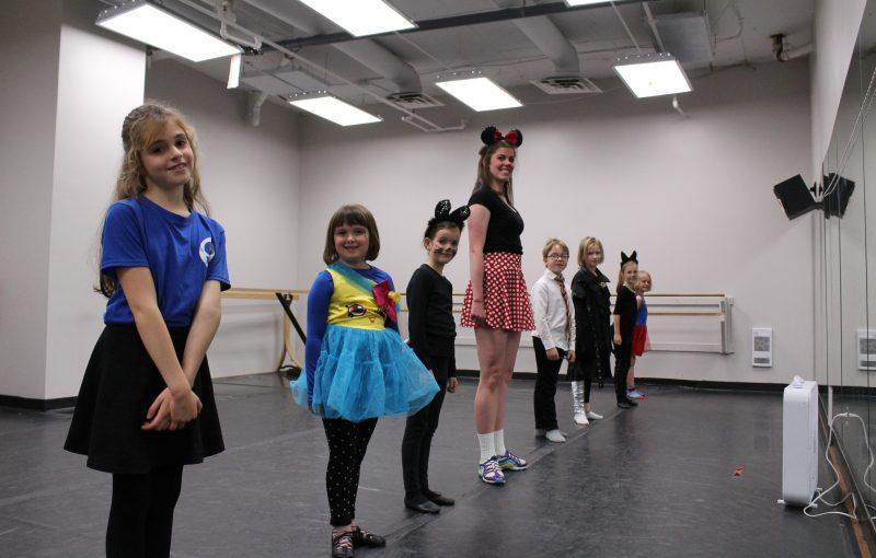 Intermediate dancers on Halloween