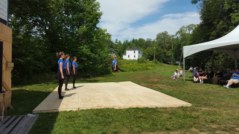Blaire leaping at the Uniacke Estate 200th Anniversary event