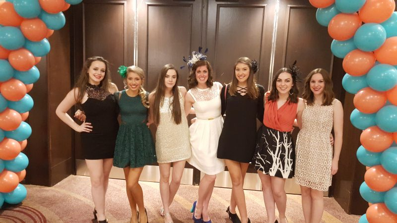 Team Rising Tide at the Oireachtas dinner dance