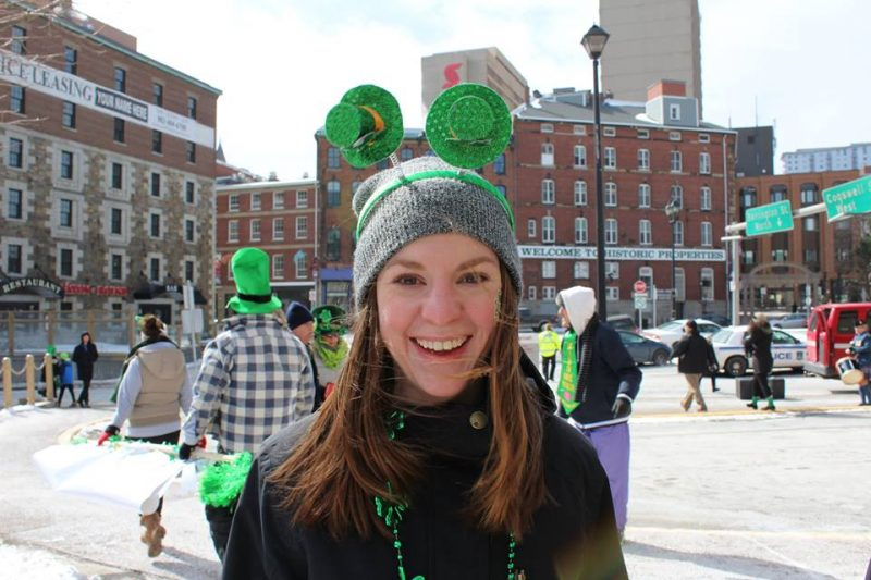 Leanne after the 2017 Saint Patrick's Day Parade